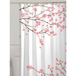 Zenna Home Cherry Blossoms Fabric Shower Curtain