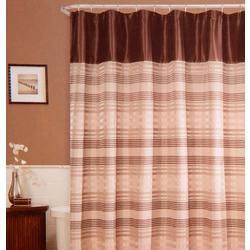 Blake Stripe Fabric Shower Curtain