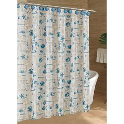 Coastal Tossed Shells Shower Curtain