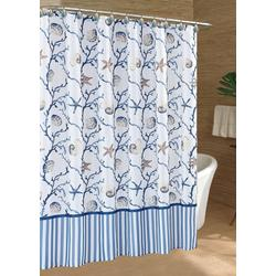 Shell & Stripe Shower Curtain