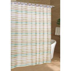Watercolor Stripe Shower Curtain