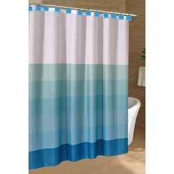 Caribbean Joe Seaglass Stripe Shower Curtain