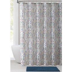 14-pc. Damask Shower Curtain Bath Set