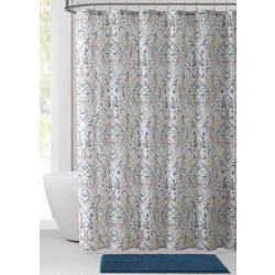 14-pc. Damask Shower Curtain Bath Set