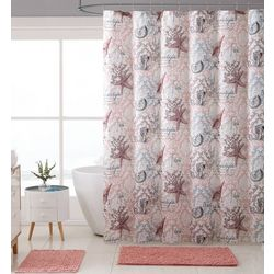 VCNY Home Shore Life Shower Curtain With Hooks