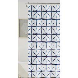 Home Collections Shibori Geometric Shower Curtain