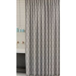 Park B. Smith Vintage House Ribbed Diamond Shower Curtain