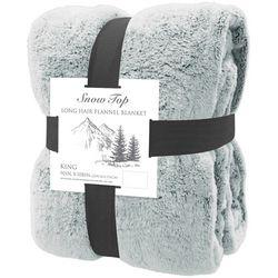 Snow Top Long Hair Flannel Plush Blanket