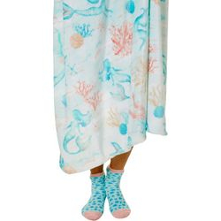 Mermaid Reef Throw & Sock Set