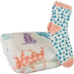 Coastal Home Kitty Throw & Sock Set