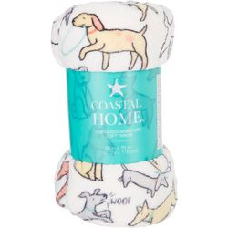 Coastal Home Dogs At Play Oversized Signature Soft Throw