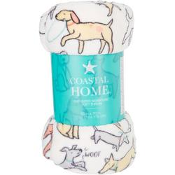 Dogs At Play Oversized Signature Soft Throw