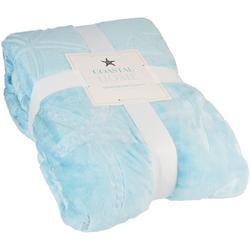 Embossed Starfish Signature Soft Blanket