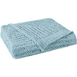 Harper Lane Solid Chenille Sweater Throw
