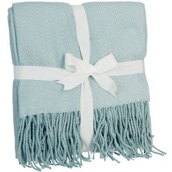 Harper Lane Solid Fringe Trim Acrylic Throw