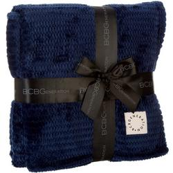 Solid Textured Oversized Plush Throw