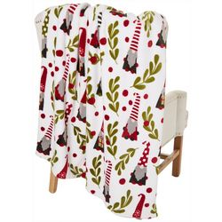 Holiday Gnomes Fleece Throw