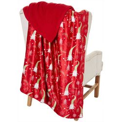 Holiday Gnome Fleece Throw