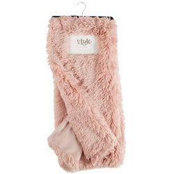 Thro Solid Plush Faux Fur Throw