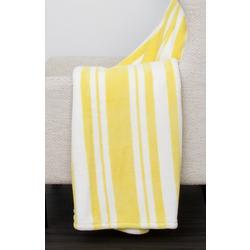 Striped Plush Throw