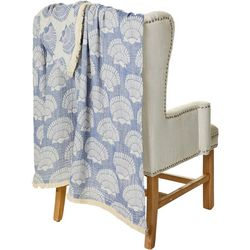 Mod Lifestyles Sea Shell Print Throw