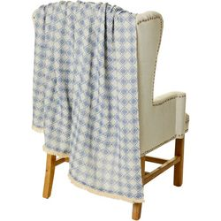 Mod Lifestyles Diamond Check Print Throw