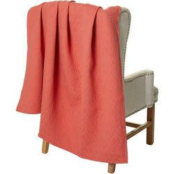 Mod Lifestyles Quilted Diamond Textured Throw