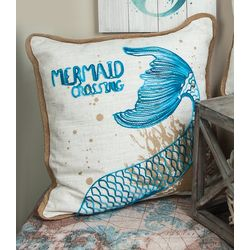 Manual Woodworkers Mermaid Crossing Decorative Pillow