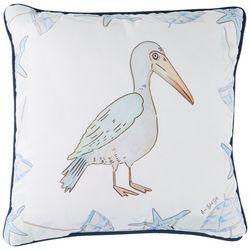 Manual Woodworkers Pelican Decorative Pillow