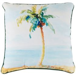 Manual Woodworkers Palm Tree Paradise Decorative Pillow