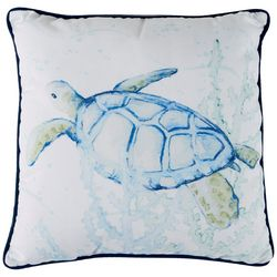 Manual Woodworkers Sea Turtle Decorative Pillow