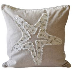 Embellished Starfish Decorative Pillow