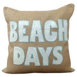 Debage Embroidered Beach Days Decorative Pillow
