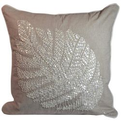 Debage Embellished Palm Leaf Decorative Pillow