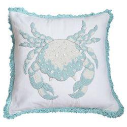 Debage Crab Bead Fringe Decorative Pillow