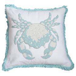 Crab Bead Fringe Decorative Pillow