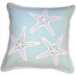 Debage Starfish Bead Whipstitch Decorative Pillow