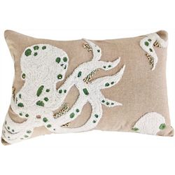 Debage Octopus Embroidered Bead Decorative Pillow