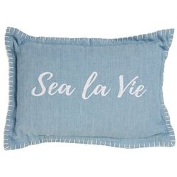 Sea La Vie Whipstitch Decorative Pillow