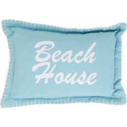 Beach House Whipstitch Decorative Pillow