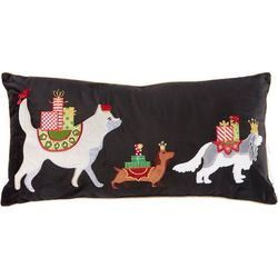 Holiday & Pets Christmas Dog Throw Pillow
