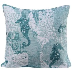 Cosmic Seahorse & Clams Decorative Pillow