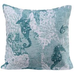 Seahorse & Clams Decorative Pillow