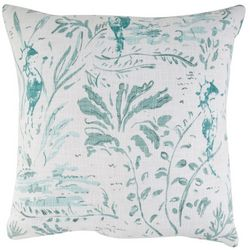 Cosmic Seahorse & Seaweed Decorative Pillow