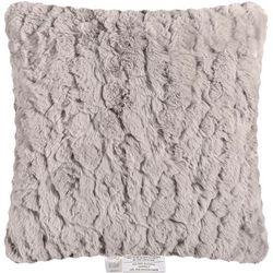 Sedona House Faux Rabbit Fur Solid Decorative Pillow