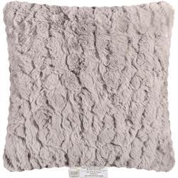 Faux Rabbit Fur Solid Decorative Pillow
