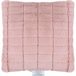 Faux Rabbit Fur Square Decorative Pillow