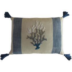 Coral Stripe Decorative Pillow