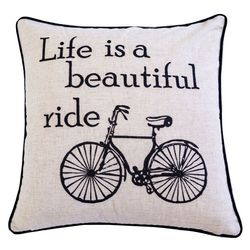 Homey Cozy Life Is A Beautiful Ride Decorative Pillow