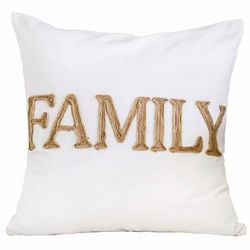 Homey Cozy Family Embroidered Decorative Pillow